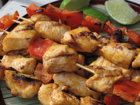 red curry chicken kabobs