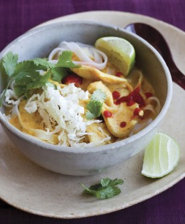 GFAK Red Curry Soup with Chicken and Rice Noodles image p 86
