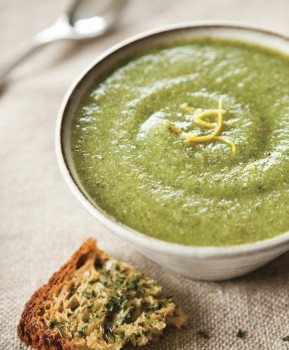 DFGF creamy broccoli soup image p 60_photo Erin Kunkel