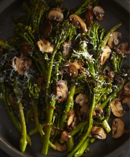 BRAS Roasted Broccolini with Winey Mushrooms image p 86